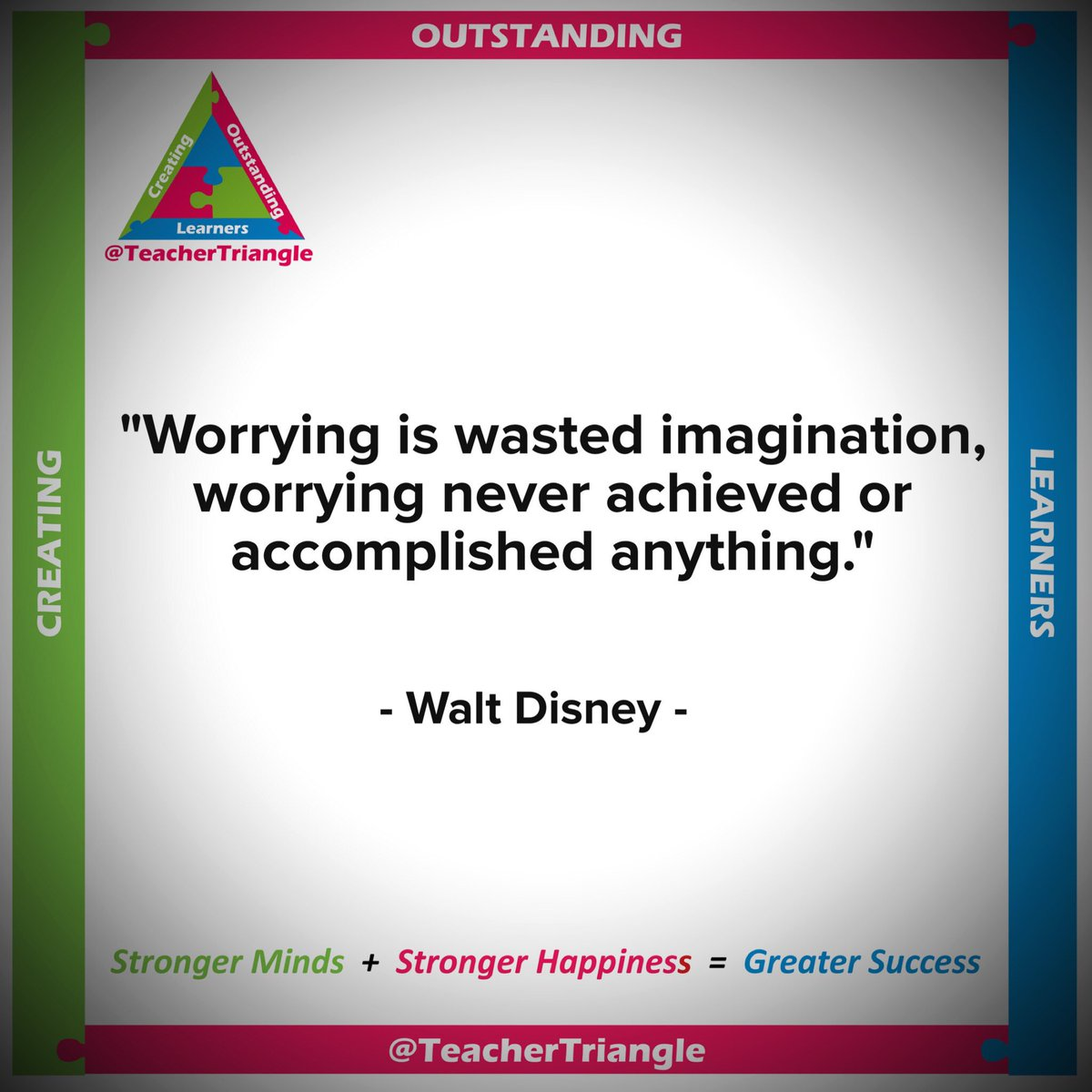 &quot;Worrying is wasted imagination&quot; - this is Great #WednesdayWisdom!  #teacher5aday #sltchat #ukedchat #wellbeing <br>http://pic.twitter.com/lz8Q487lIT