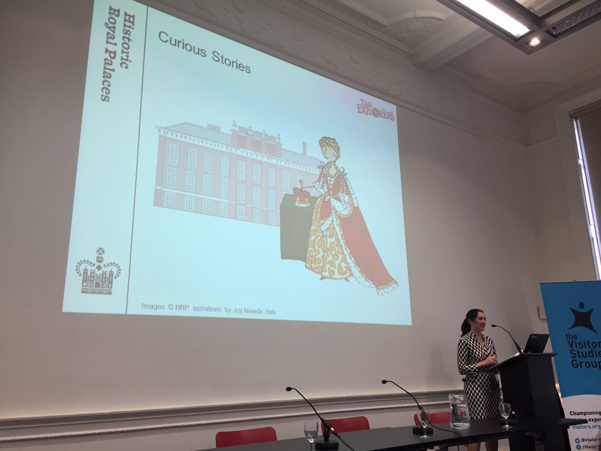 Emma Morioka of @HRP_palaces discusses the evaluation strategy for the Curious Stories project. Love this graphic! #VSGconf17 https://t.co/WF9Arm09NB