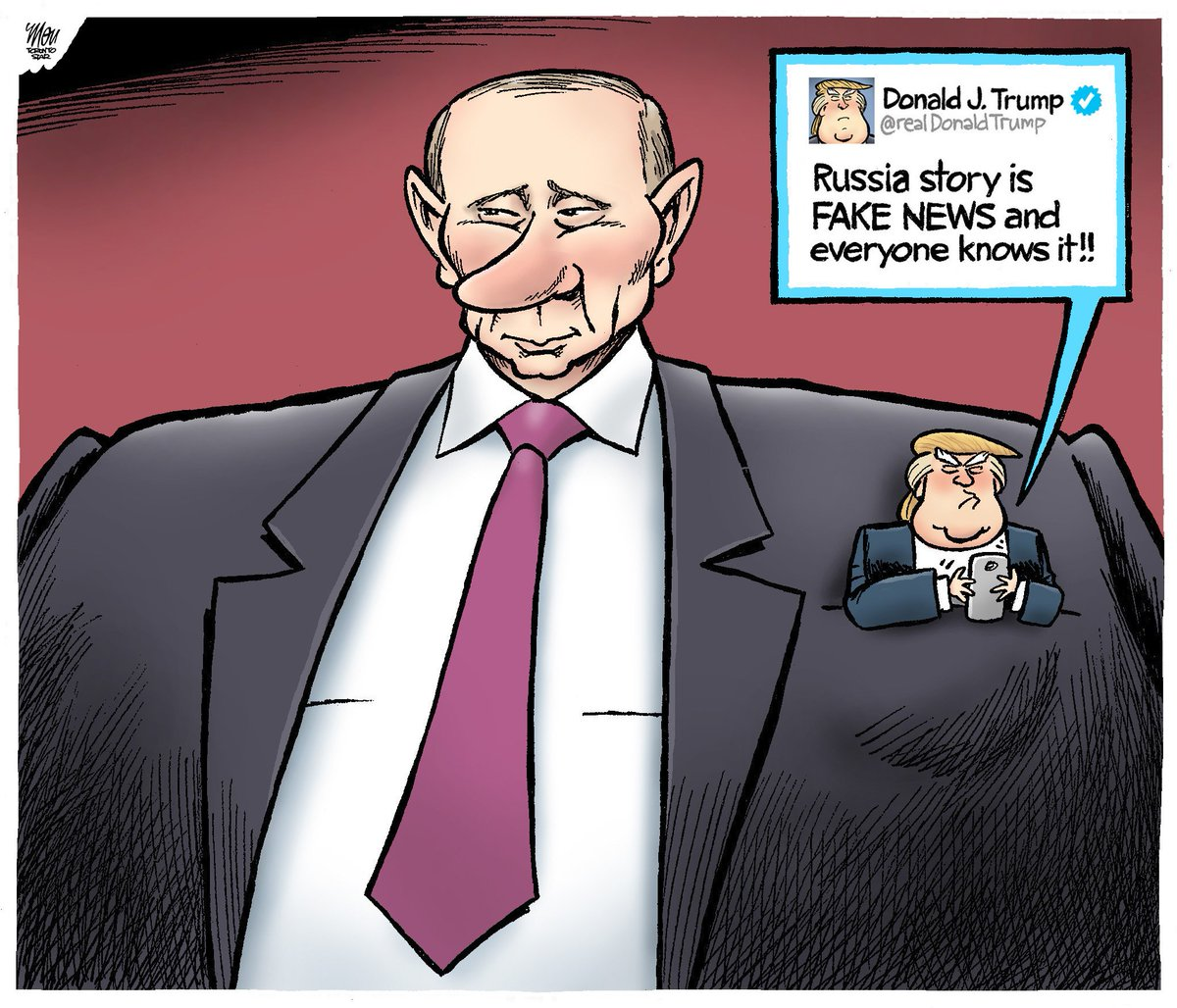 "Did Fake News On Facebook Win Trump The Election That S: ""putin & Trump"" Is Today's #fakenews Cartoon In"