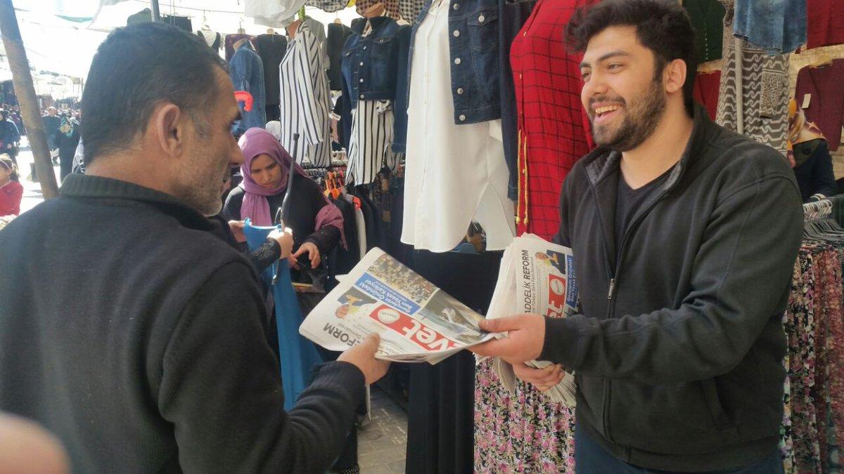 Fatih Çarşamba pazarında, pazar esnafımızı ziyaret edip vatandaşlarımı...