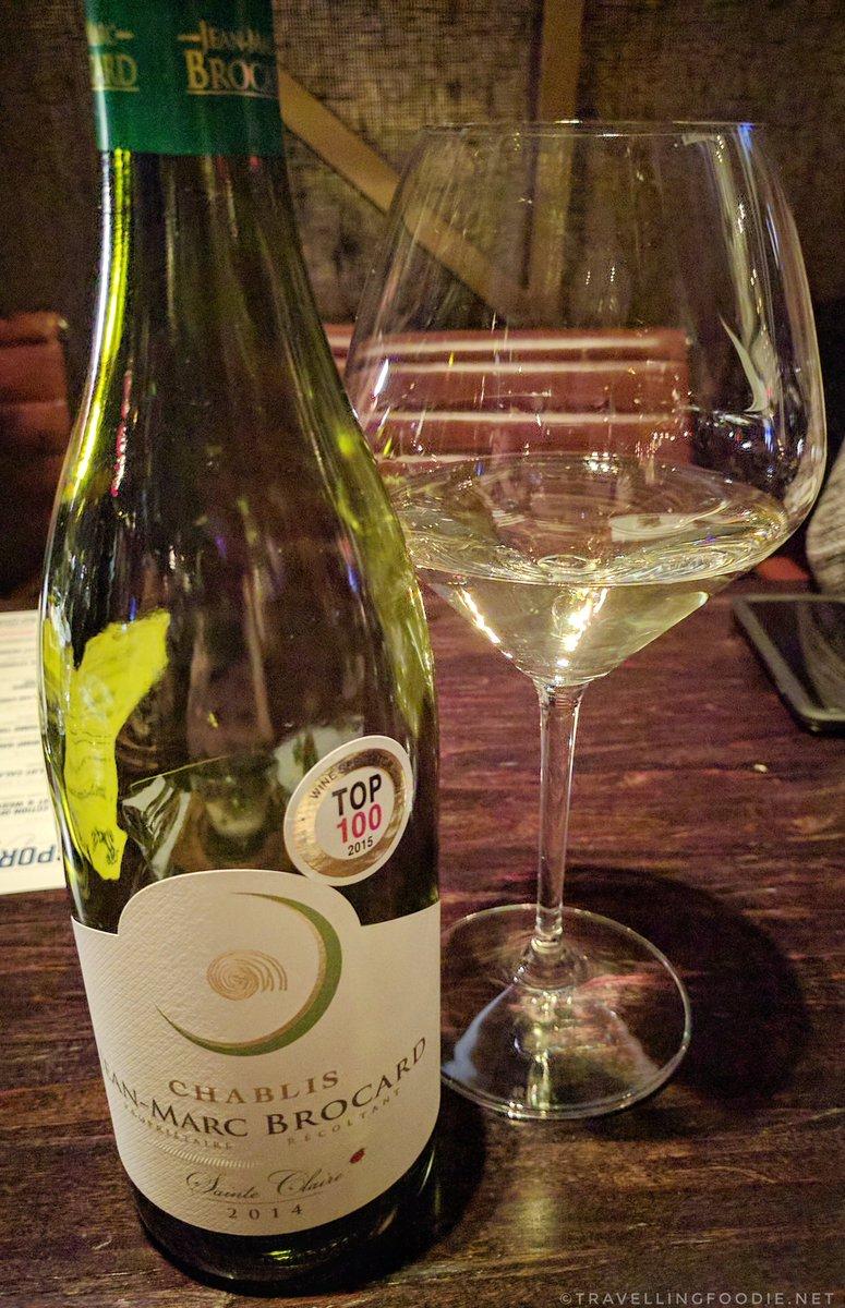 Jean-Marc Brocard Chablis Domaine Sainte Claire 2014 wine