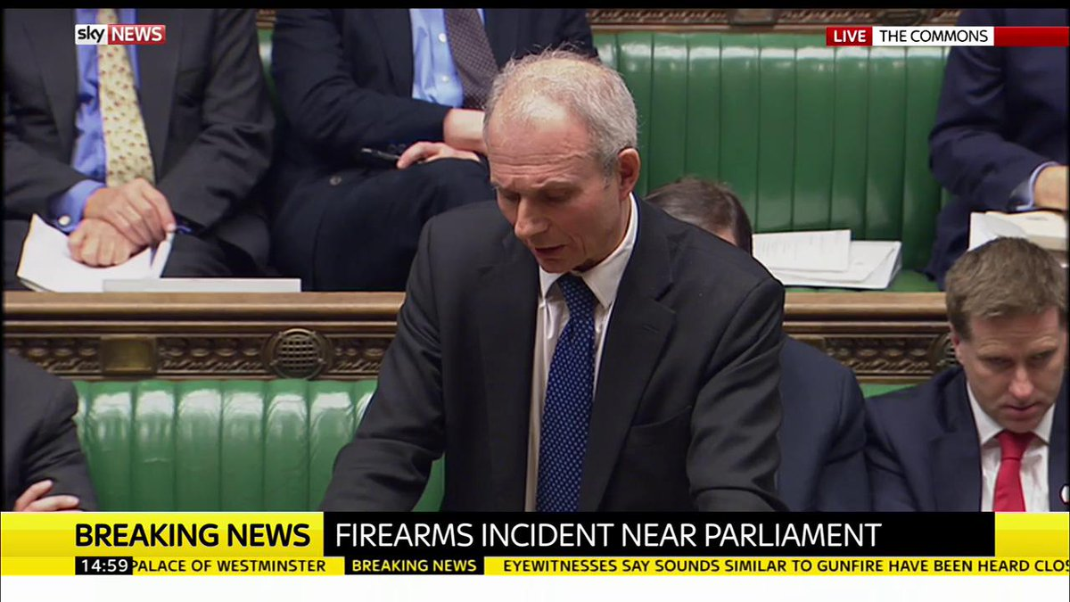 Firearms incident near #Parliament: This statement has just been given...