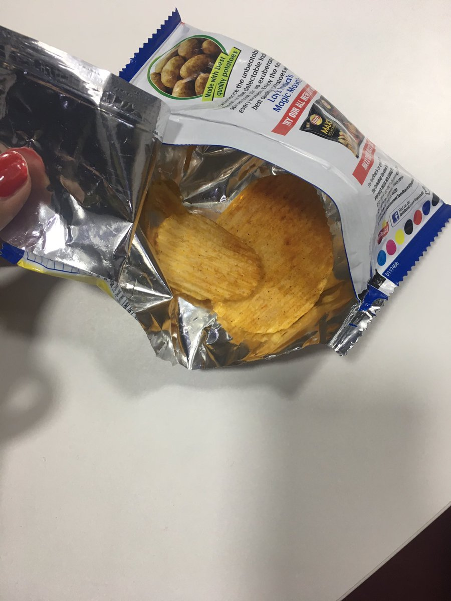 Awesome way to make money @LAYS @pepsico  ..2 and half chips for 5 bucks..wondering what it is made of...! #Loot <br>http://pic.twitter.com/mXiu32npDS