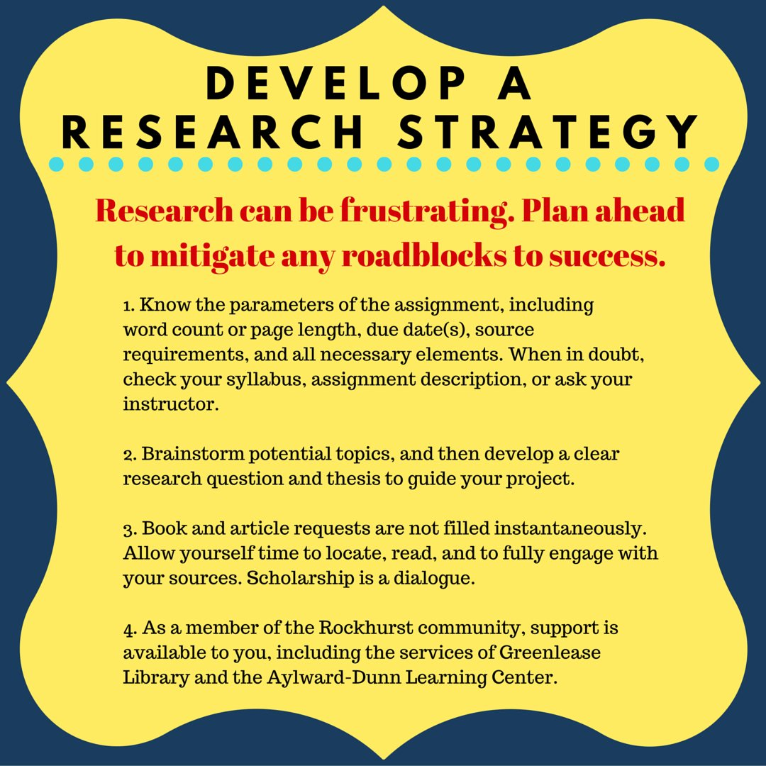 #ProTip When conducting research, develop a strategy for success. #researchstrategy <br>http://pic.twitter.com/J0WO9MPBrW