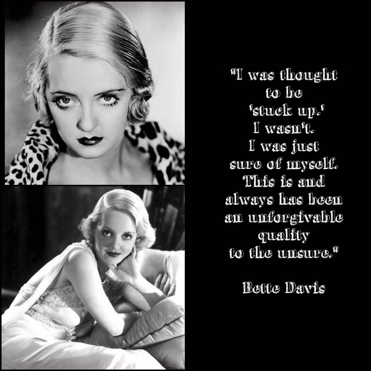 #WednesdayWisdom from Bette Davis #BetteDavis #Hollywoodglamour #FeudF...
