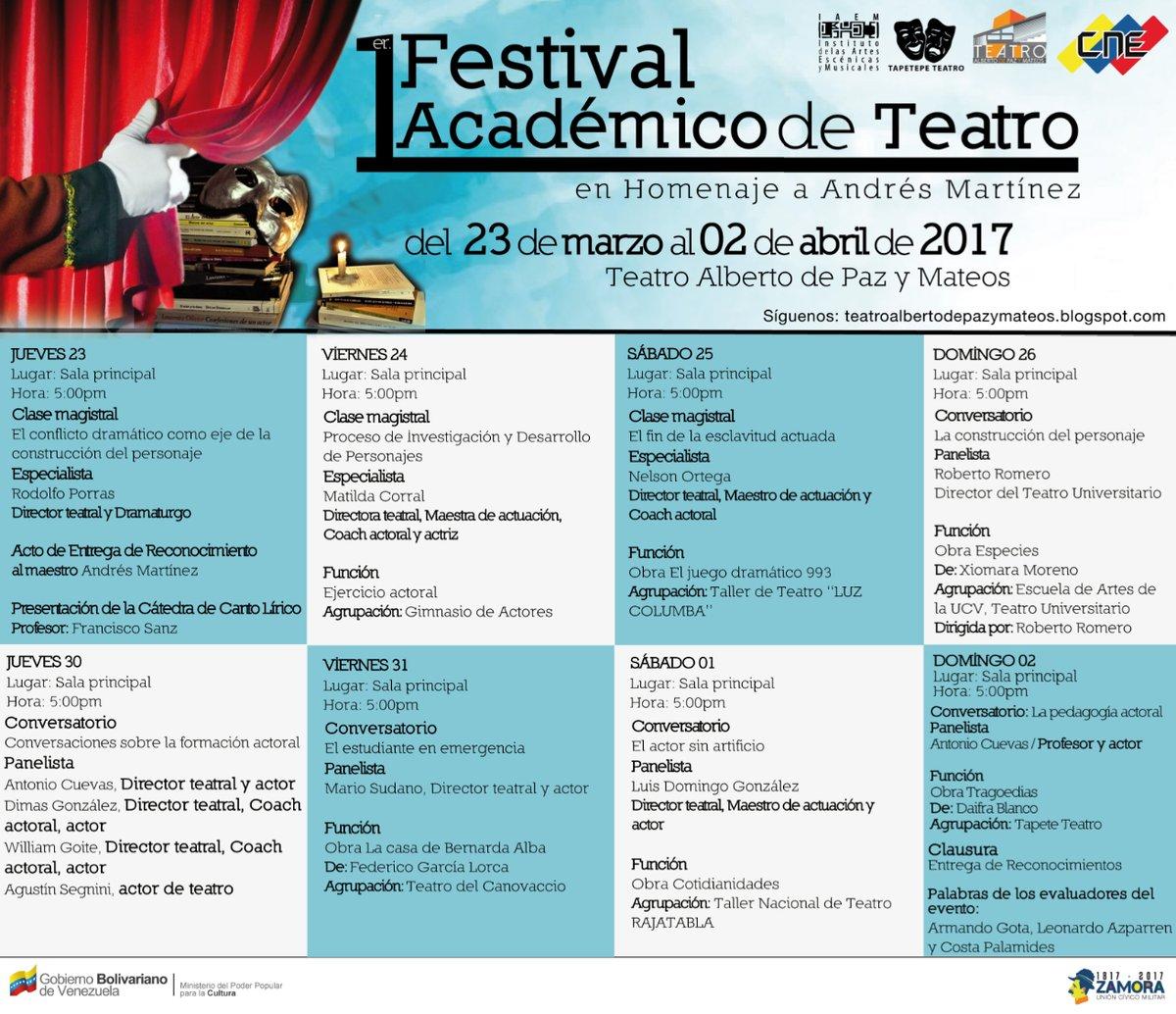 #CogeDato🗣 || 1er Festival de Teatro Académico. Homenaje a #AndrésMart...