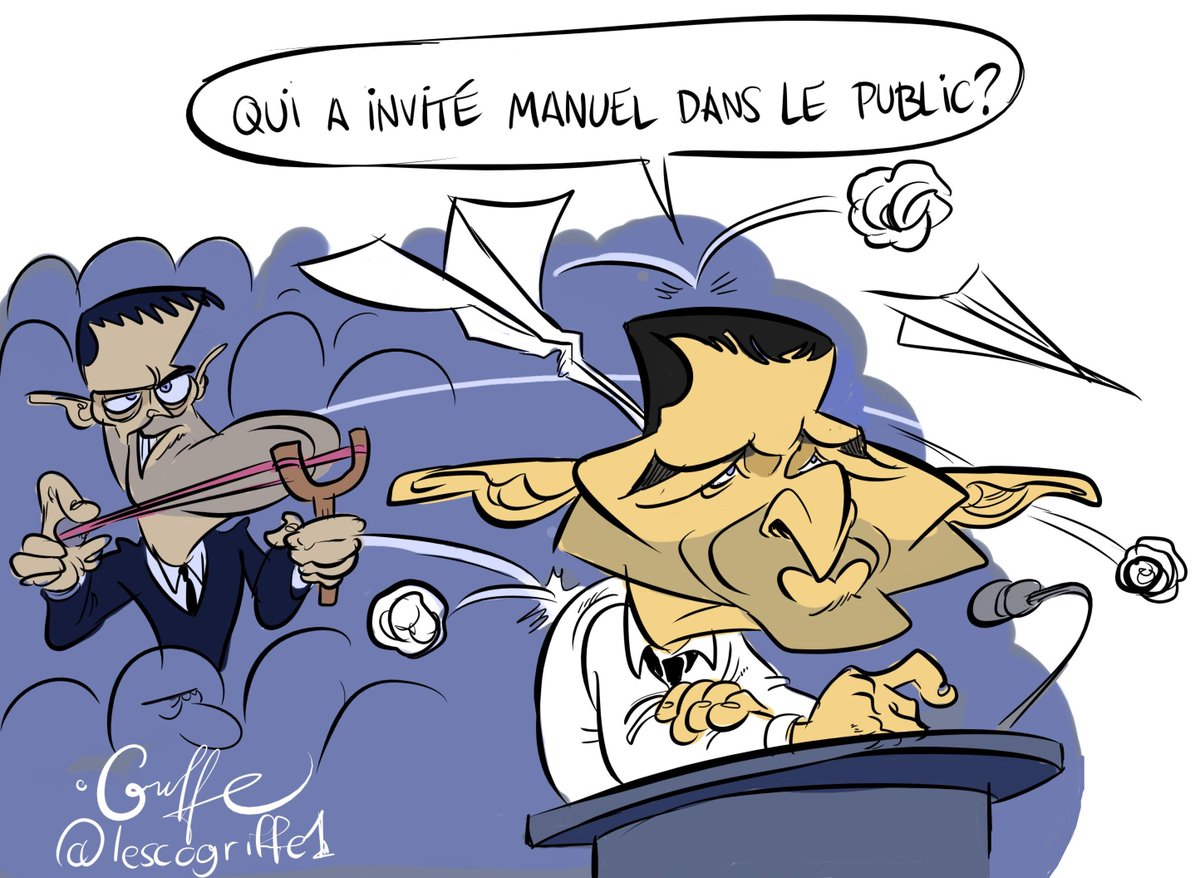 Je termine ma série de dessin sur le Grand Débat avec Benoit Hamon! #H...