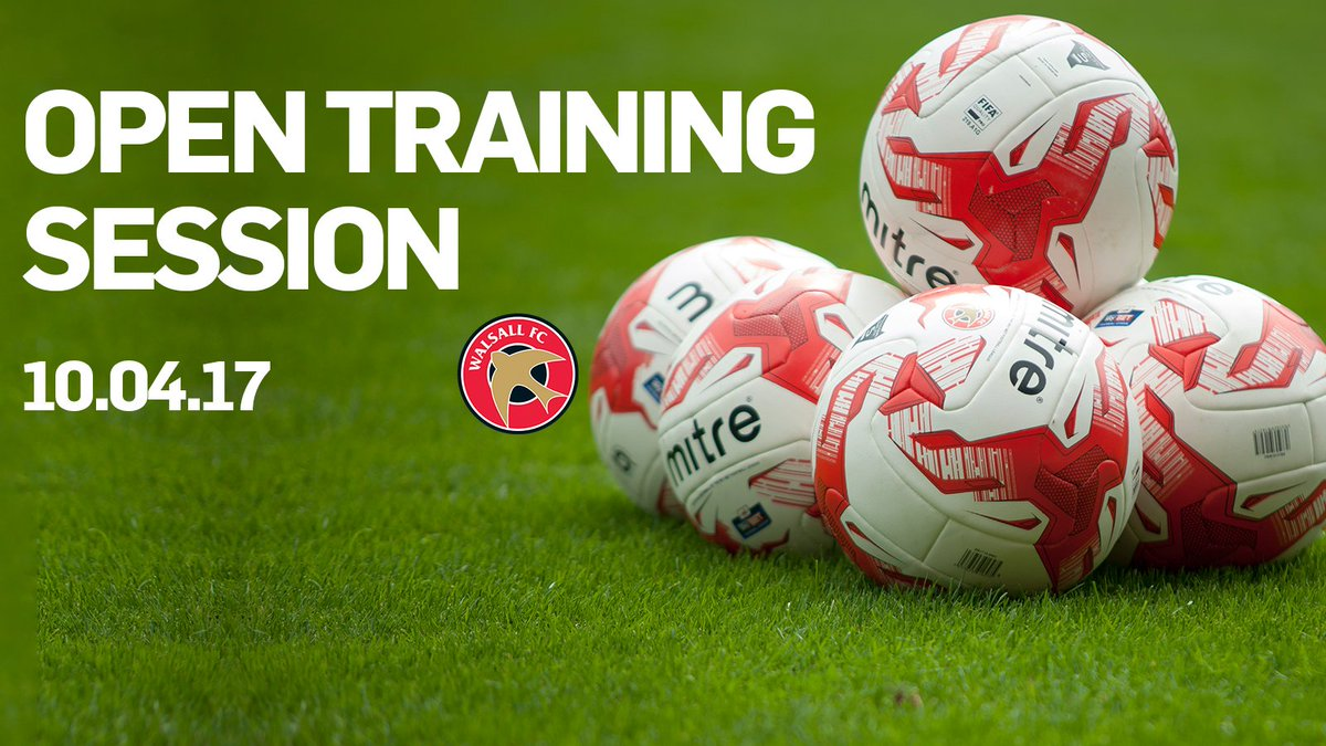 Open Training Session Set for Monday, 10th April