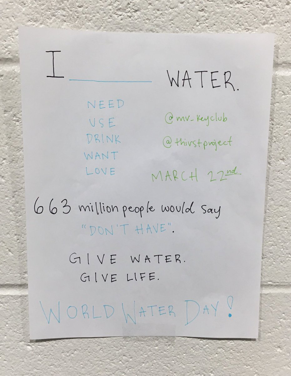 remember that we're the lucky ones, especially on #worldwaterday give water, give life!!!!