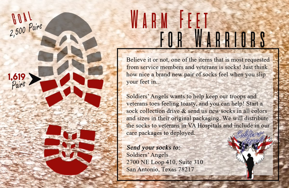Soldiers' Angels Warm Feet For Warriors Sock Drive