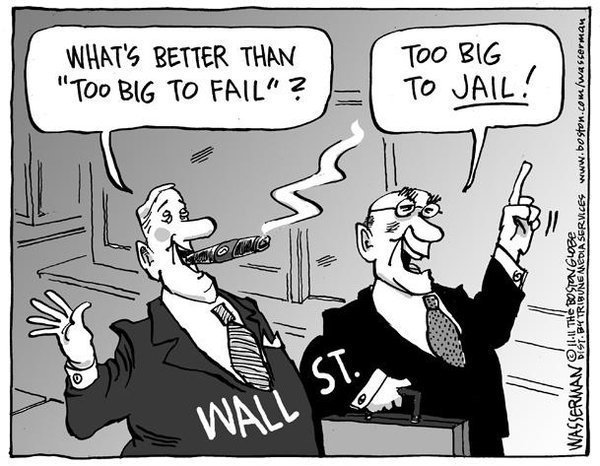 Image result for glass steagall cartoon
