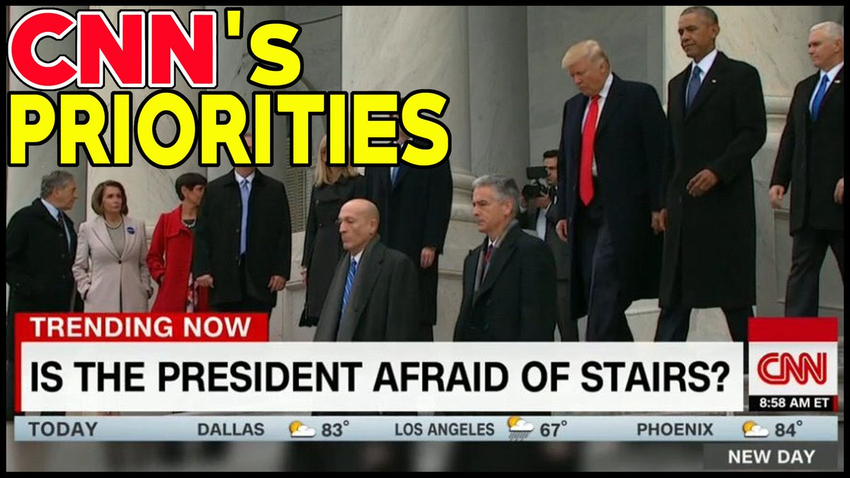 With all that is out there to report on #Politics ... #NewDayCNN chooses to report #Trump afraid of Stairs?  #CNNIsFakeNews #FakeNews #MAGA<br>http://pic.twitter.com/wHELRE6BNB