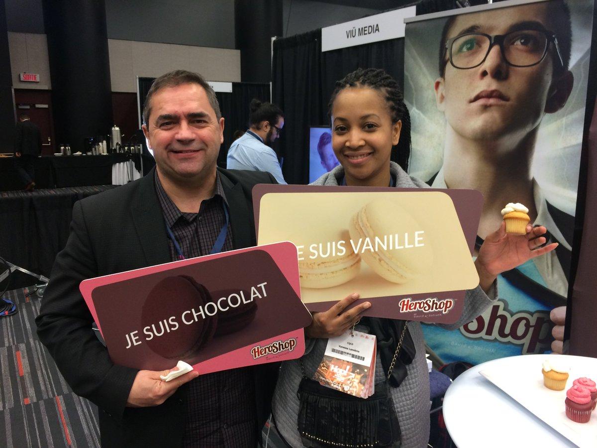 Derniers instants du #hop17 Jocelyn Dorion et Vanessa Lametrie du @CQCD_Express  ont choisi chocolat et vanille ! #personnalisation #détail <br>http://pic.twitter.com/7jujnNEfrI