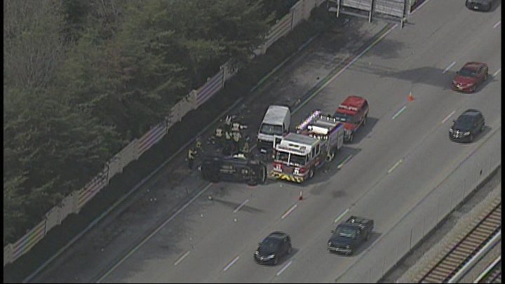Fatal: : Fatal accident has 3 of 4 lanes blocked on GA 400 SB near