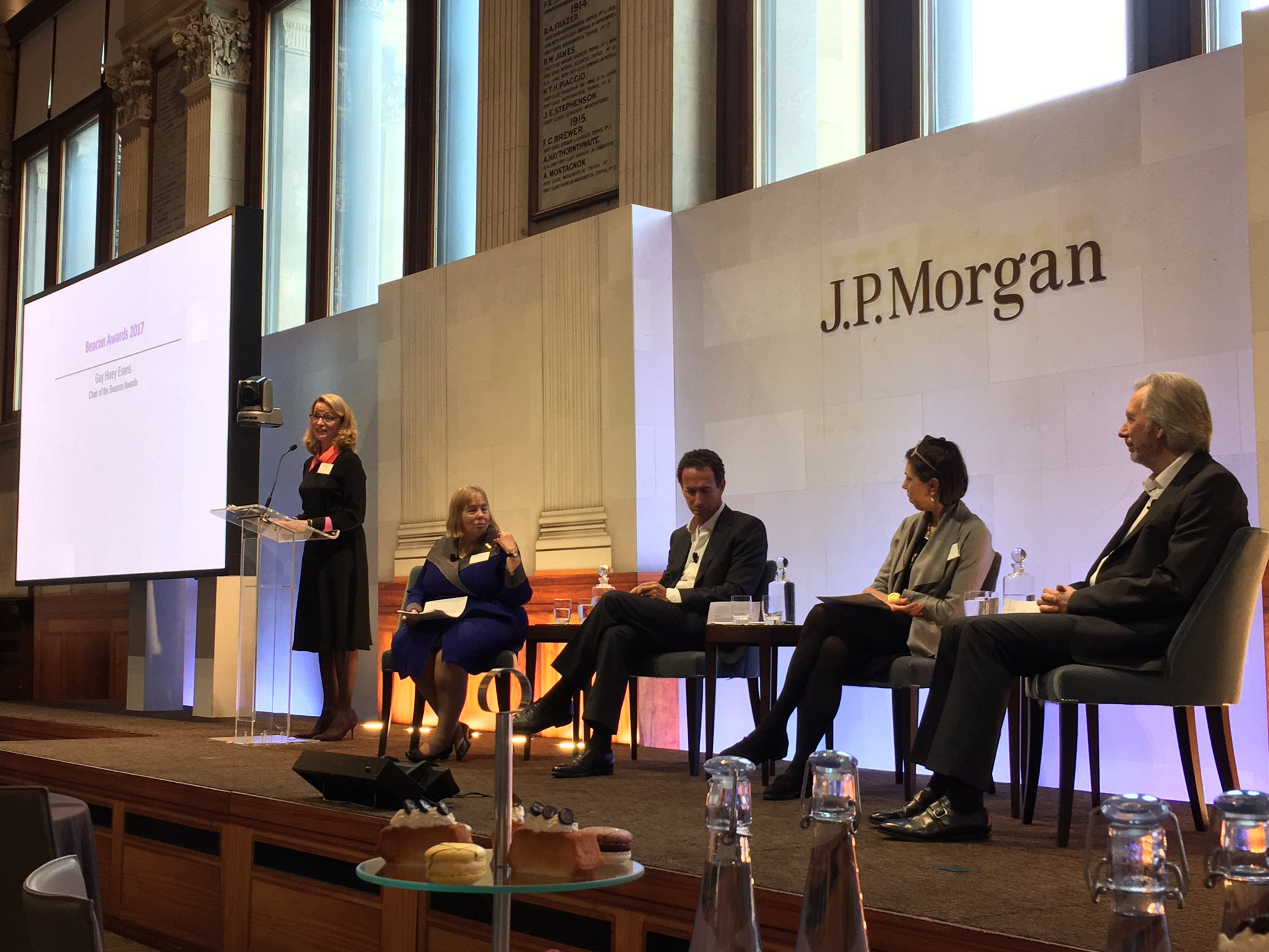 Great line up of speakers @BeaconAwards discussing the power of philanthropy @jpmorgan https://t.co/l5eb6eats8