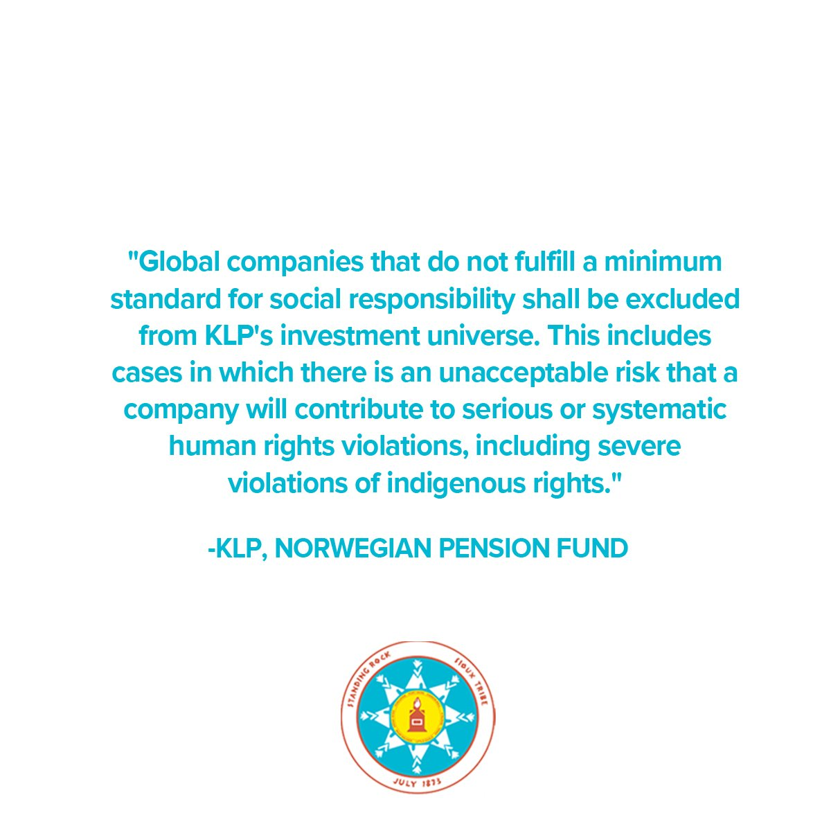 We commend KLP for deciding to exclude companies like Energy Transfer Partners from future investments. #Divest  http:// bit.ly/2mVfXb6  &nbsp;  <br>http://pic.twitter.com/InvWhC9dVZ