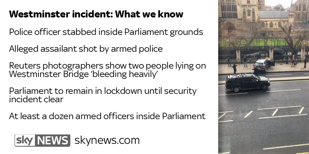 Police officer stabbed inside #Parliament grounds: Latest news from We...
