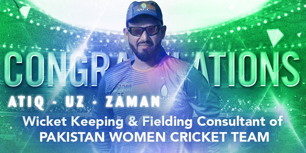 Congratulations @Atiq160Test for the honour of becoming #Wicket Keeping &amp; #Fielding Consultant of the Pakistan Women #Cricket Team<br>http://pic.twitter.com/gf7MGN9rEL