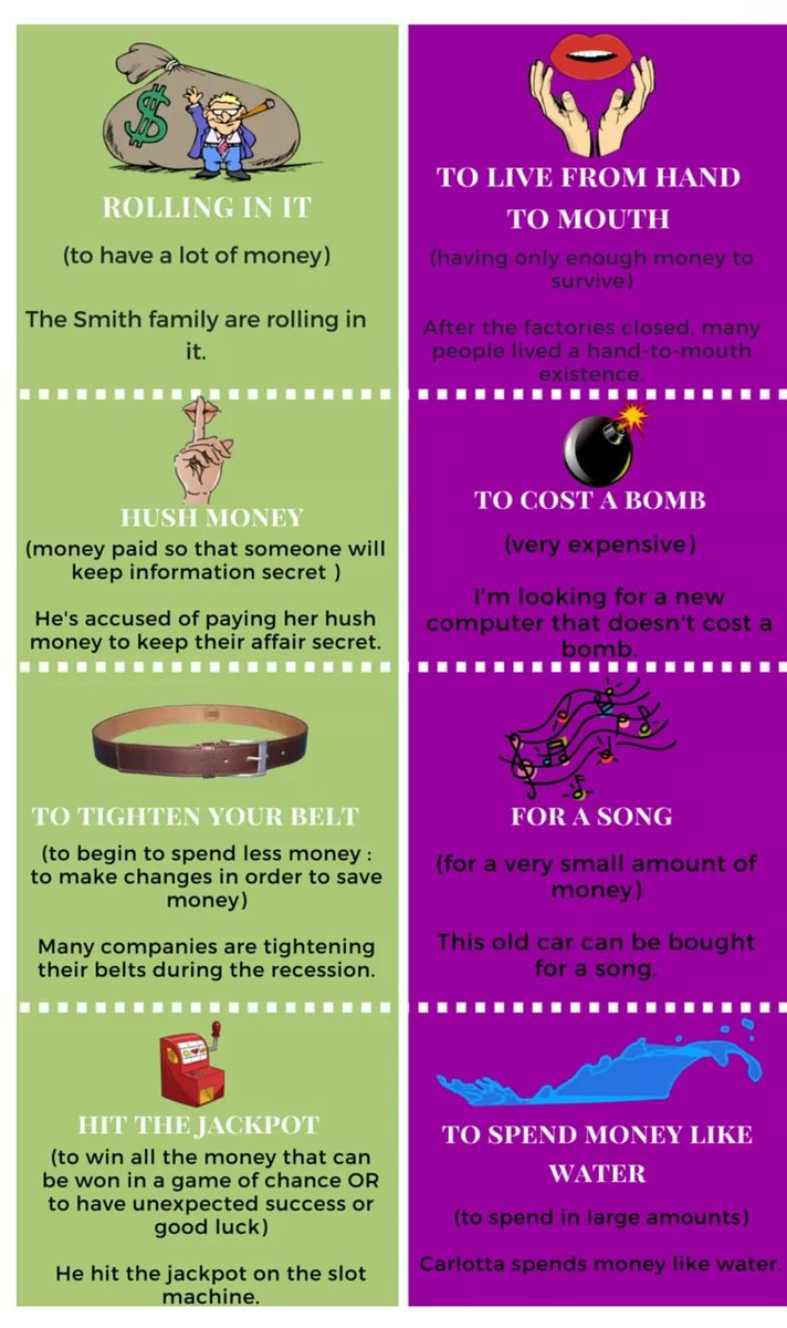 #Idioms and #expression about #money. #Vocabulary #English #anglais #inglés #inglese.<br>http://pic.twitter.com/1rvI1Fh7ot
