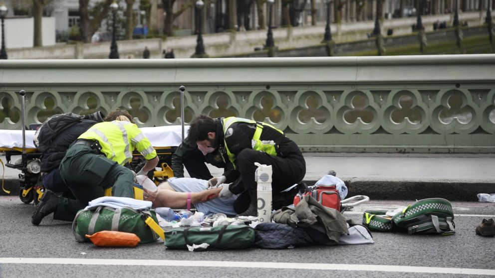 Witness: 'I saw 8-10 people lying on ground in Westminster.