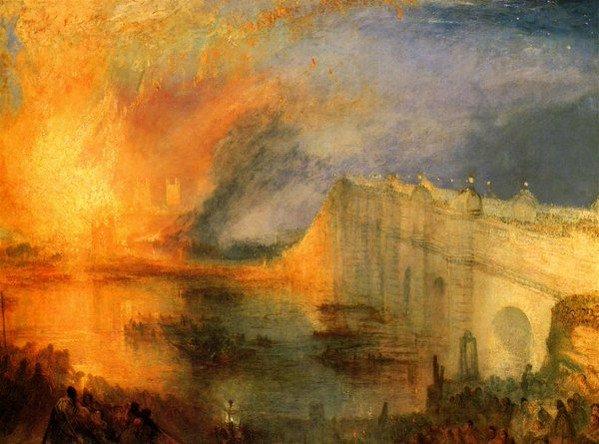 Joseph Mallord William #Turner  L&#39;incendie du Parlement <br>http://pic.twitter.com/kFLG69080i