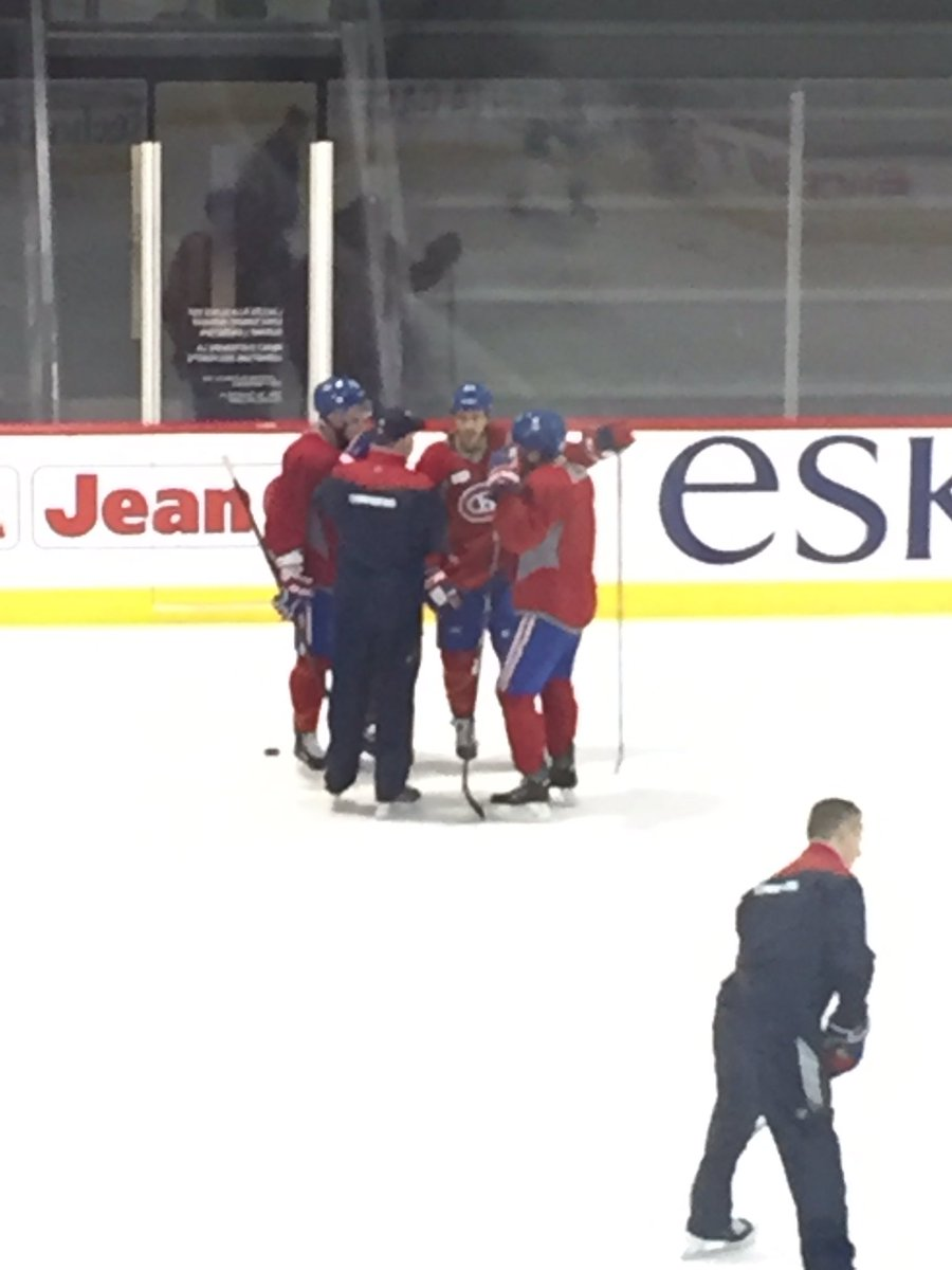 #Habs Julien in conversation with the newly-minted Galchenyuk/Shaw/Leh...