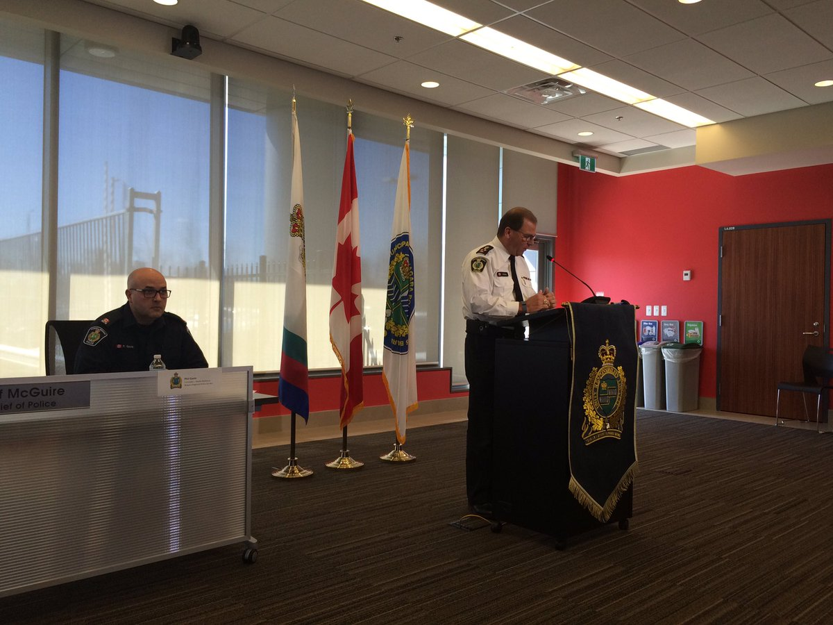 Chief Jeff McGuire recapping events on Friday saying NRP called to Que...