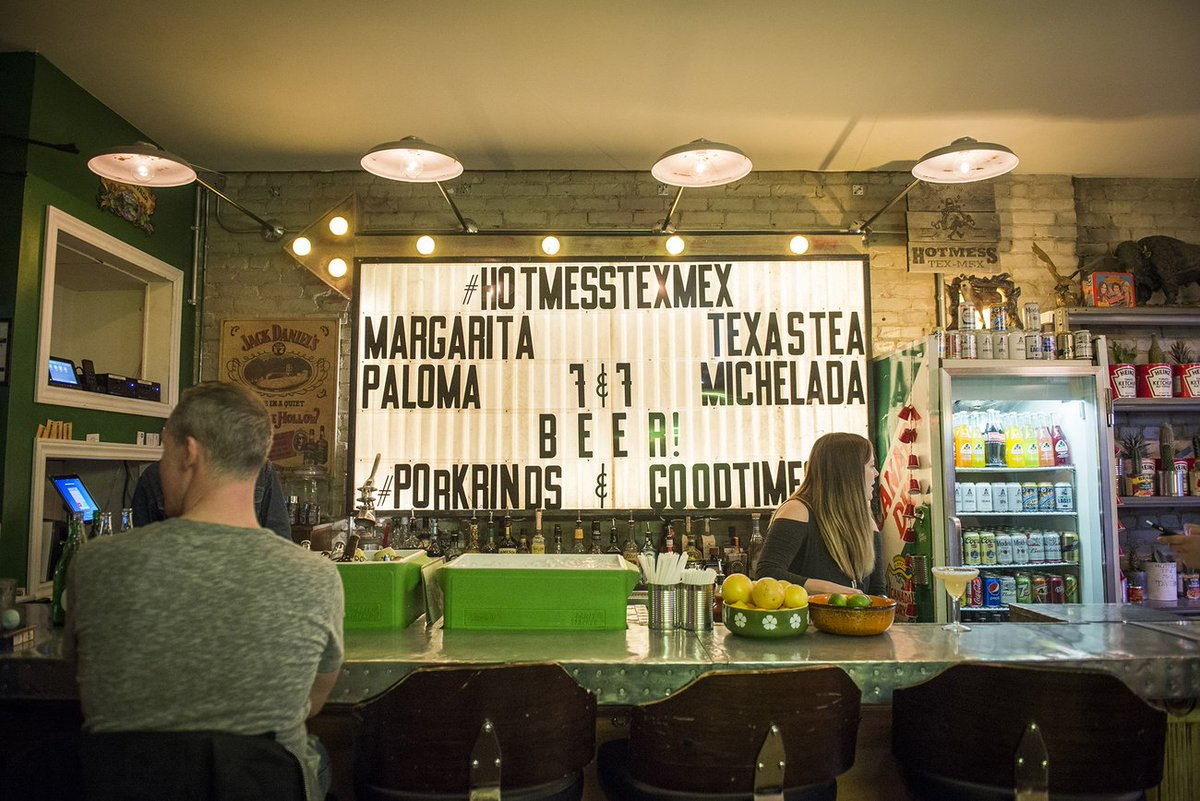 Take a look inside #Toronto's new funky tex mex joint https://t.co/Bql...