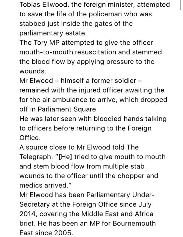 NEW: Hero MP in Parliament attack -- Tobias Ellwood tried to save life...