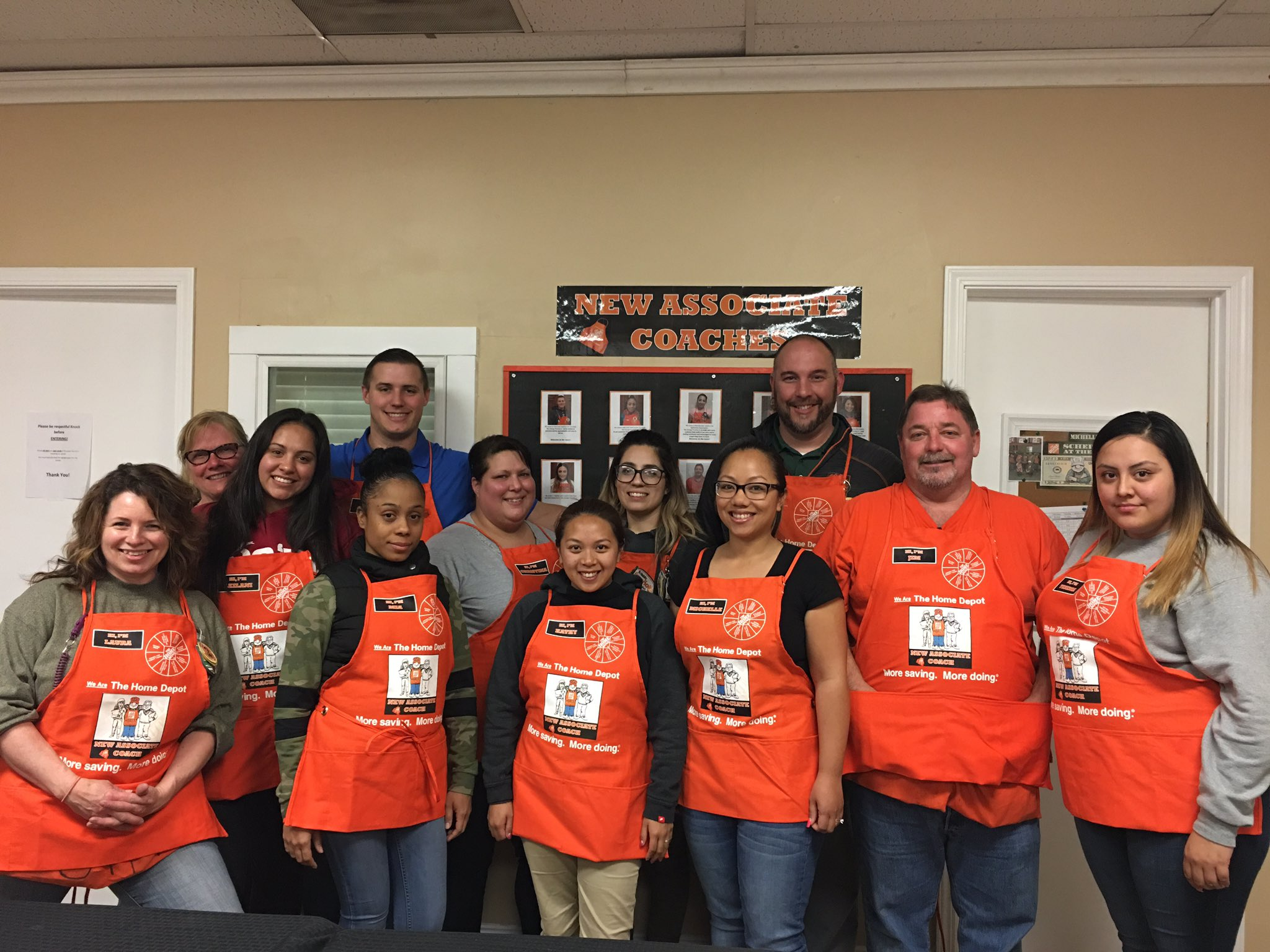 Elk Grove Home Depot on Twitter Custom made aprons for our New