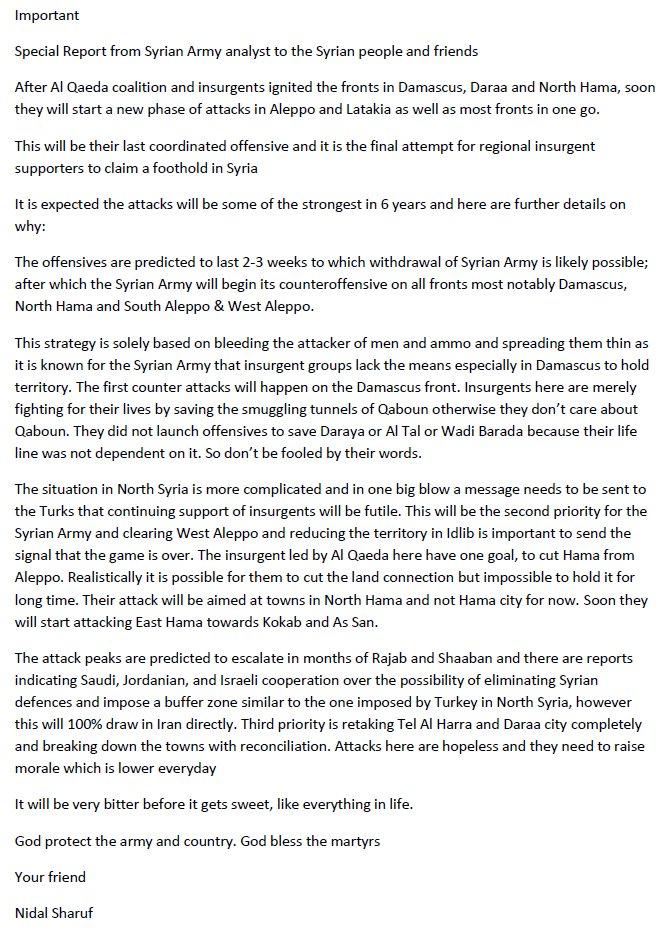 Syrian War: News #12 - Page 6 C7iY97nW0AA4pgk