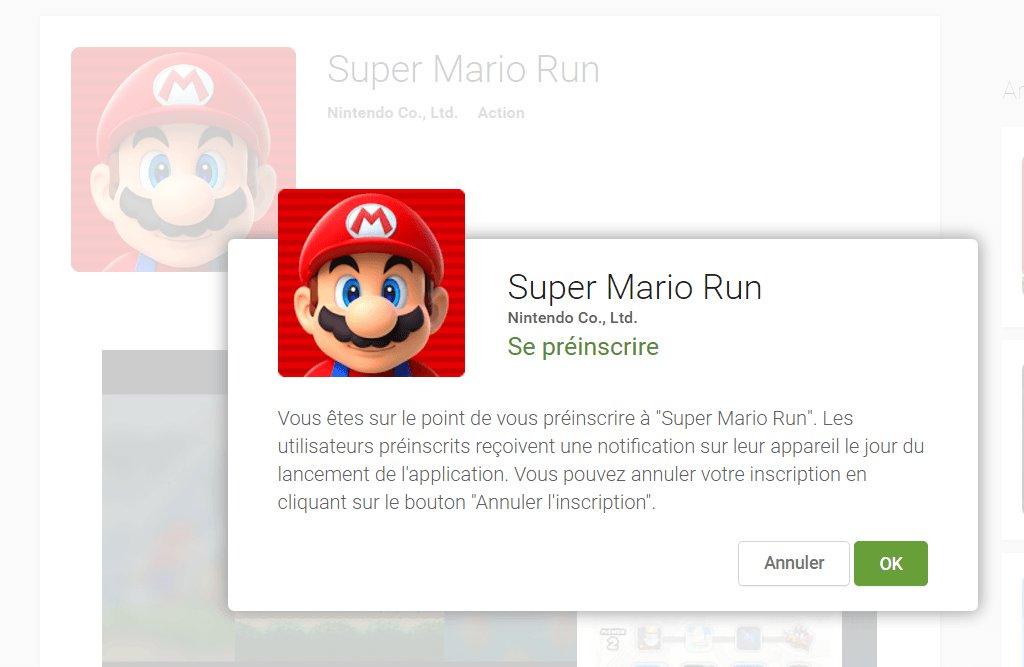 Super Mario Run est disponible demain sur Android, pré-inscrivez-vous...