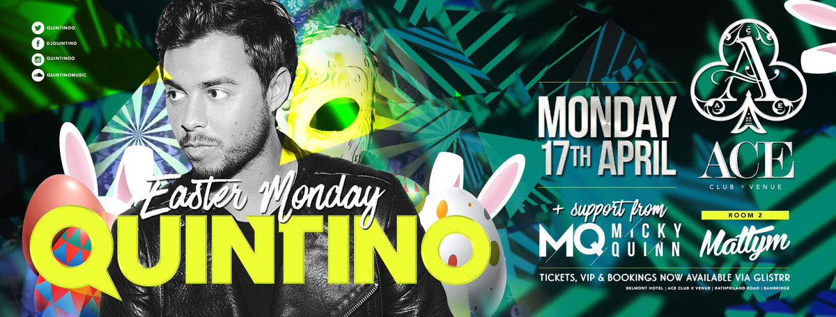 BOOM! @QUINTINOO at @AceClubVenue Banbridge Easter Monday with  @Micky...