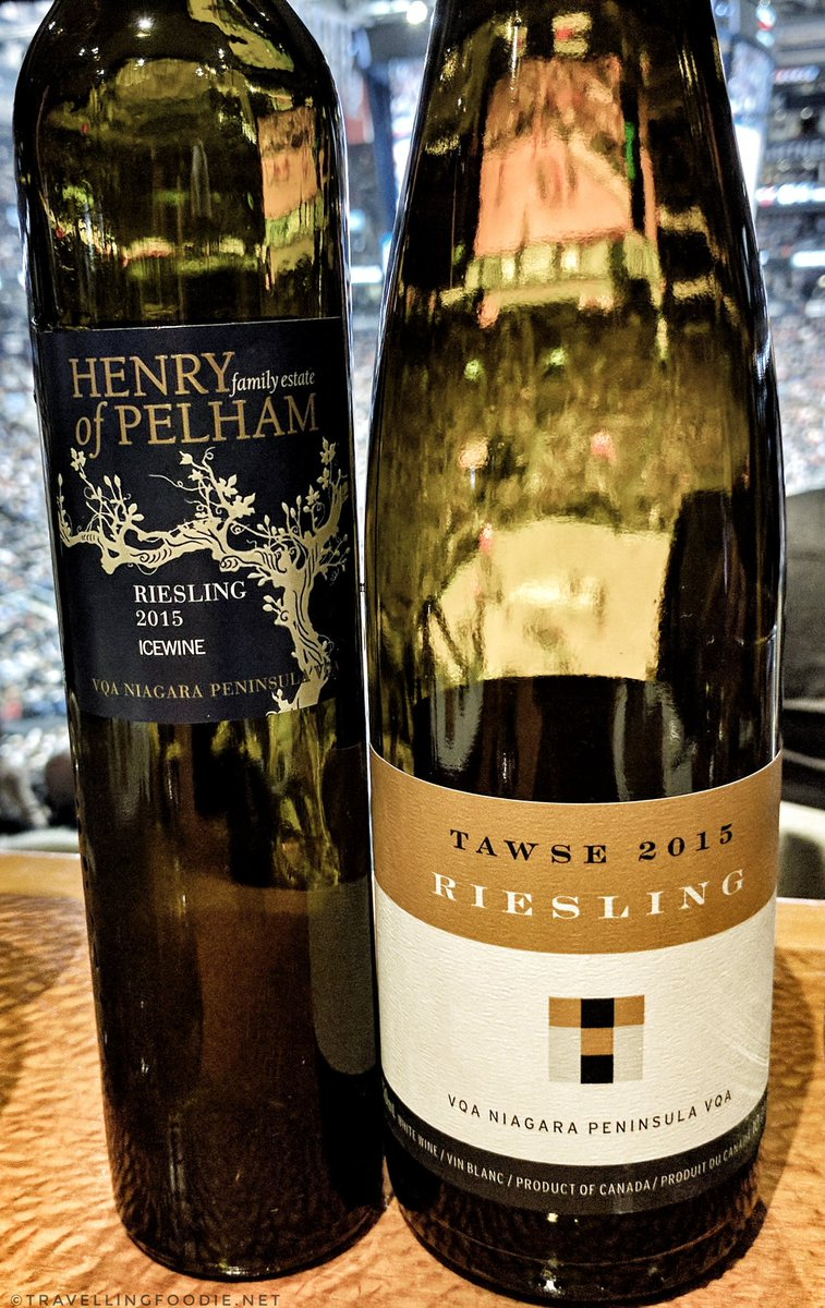 Tawse 2015 Riesling wine and Henry of Pelham Riesling 2015 Icewine