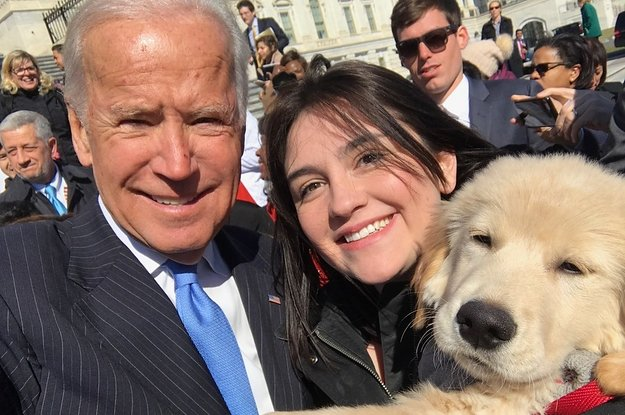 This adorable pup named Biden just got to meet former VP Joe Biden htt...