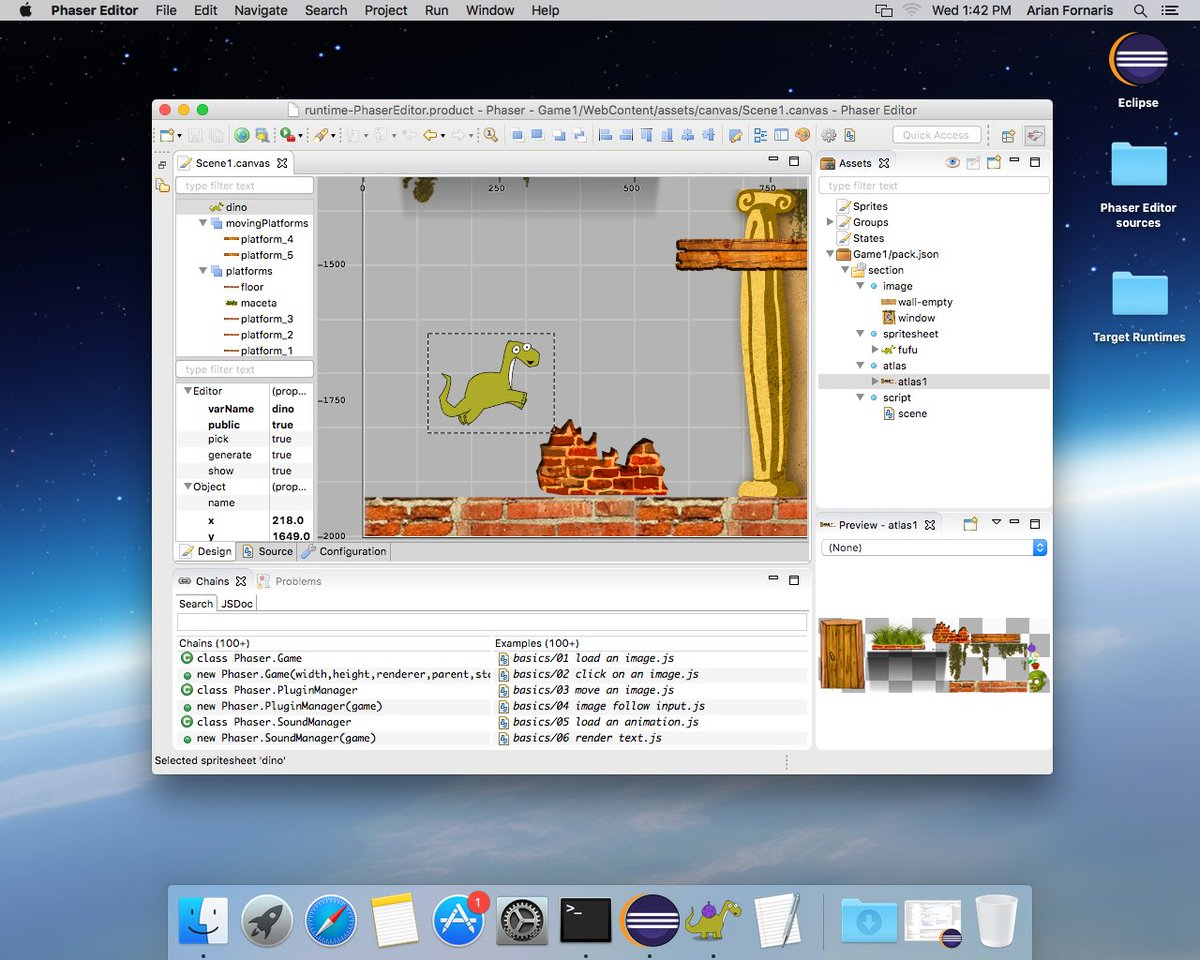 Phaser Editor on Mac OS