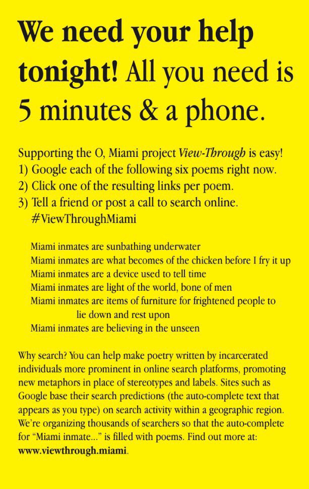 O, Miami Poetry Fest on Twitter: