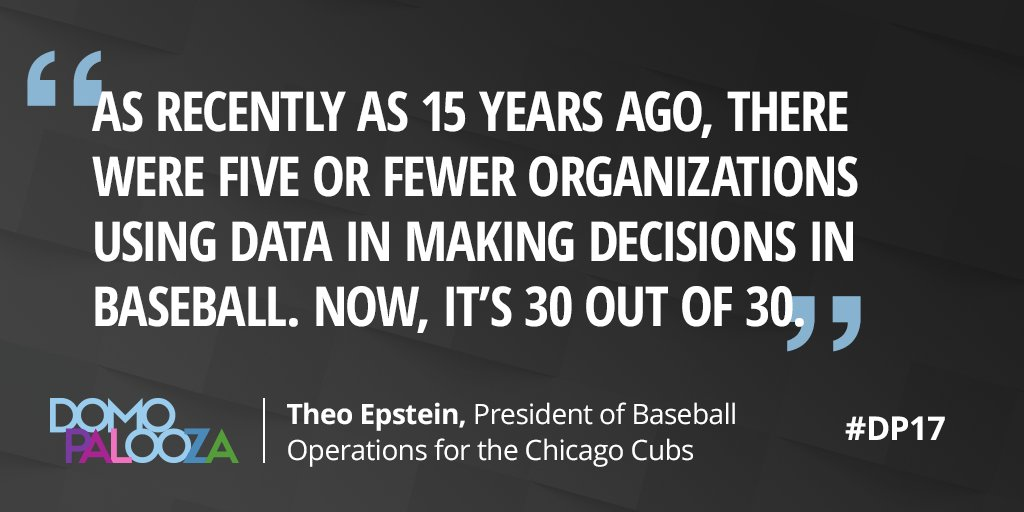 Theo Epstein discusses how using analytics has become a game changer--...
