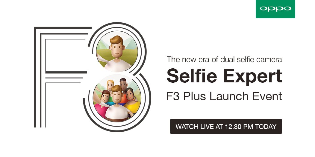 Tweet with #OPPOF3Plus & win the brand new OPPO F3 Plus. The launc...