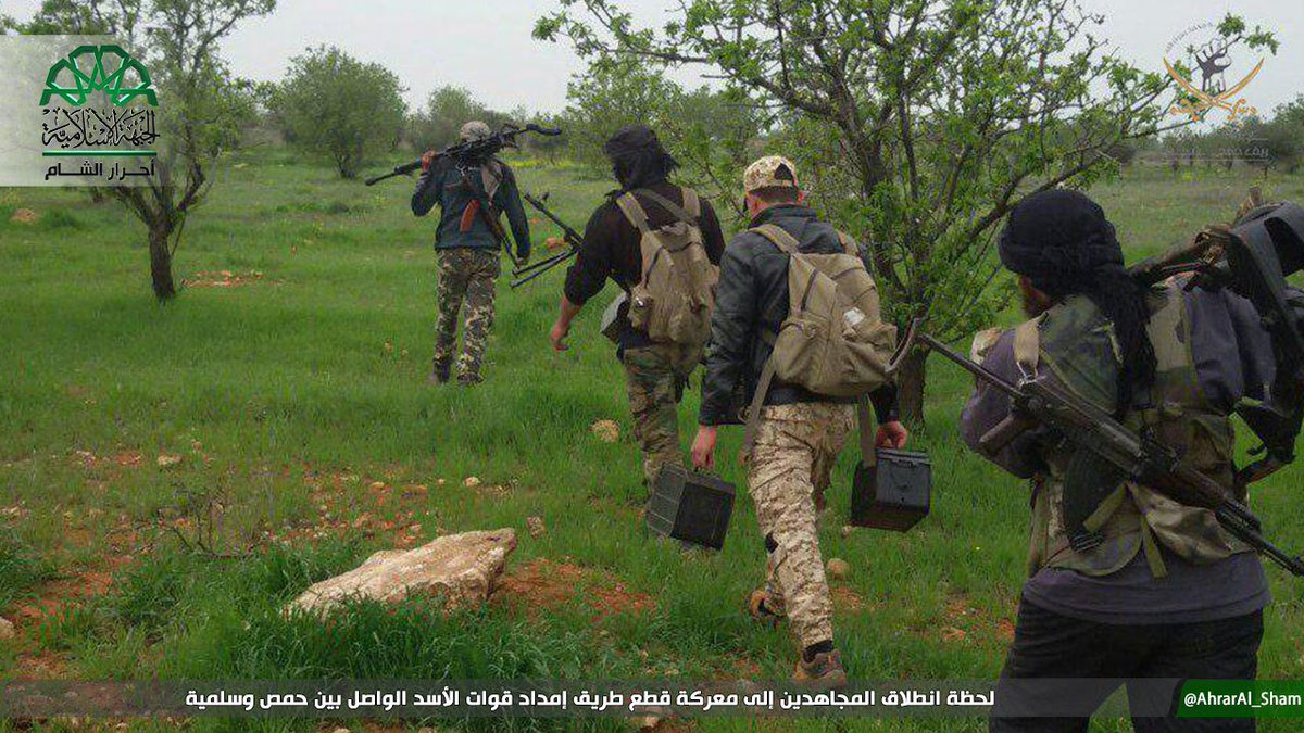 Ahrar-AlSham participate in HTS offensive to cut Homs-Salamiyah supply routes Syria