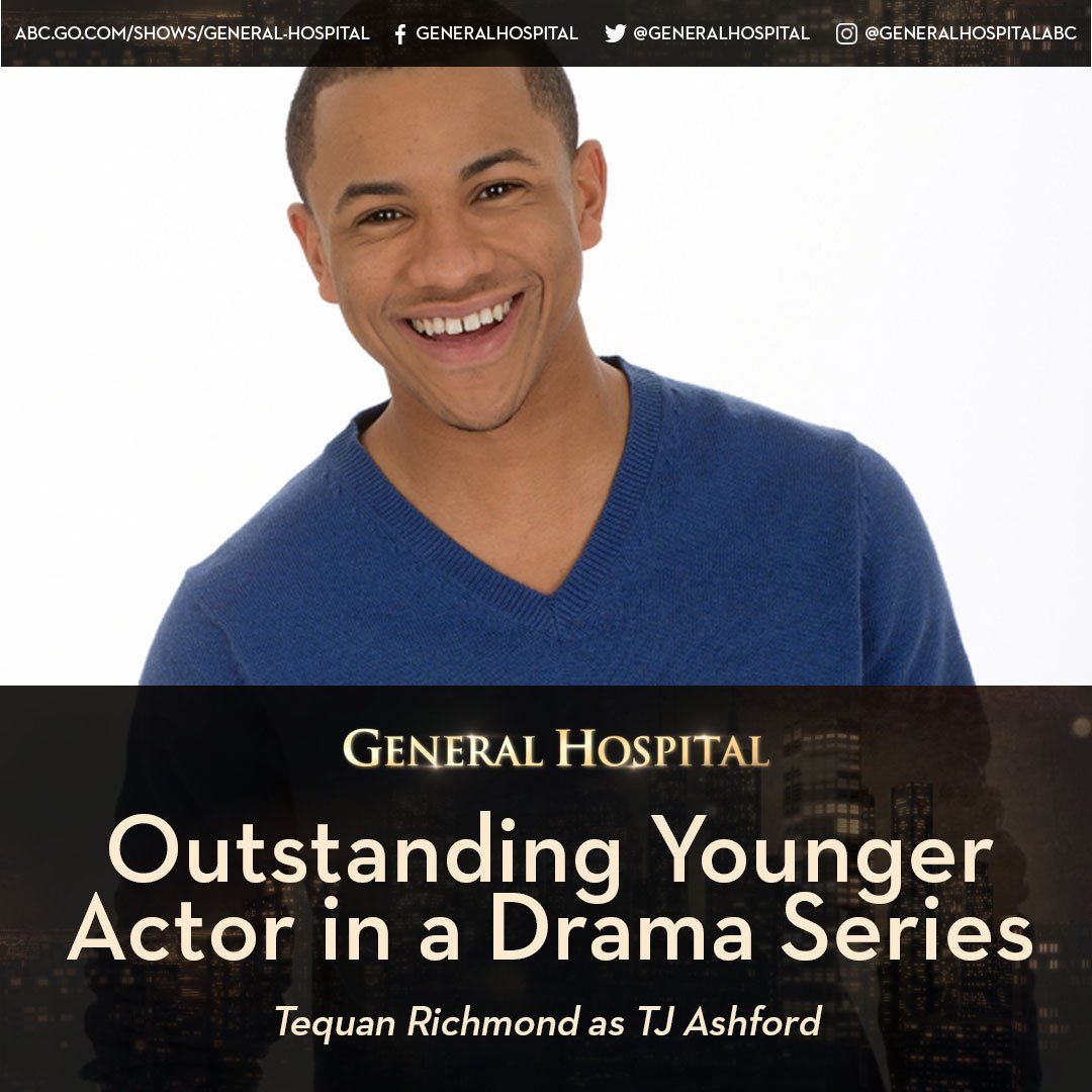Congratulations @TdashRICH! #DaytimeEmmys #Nominee #GH #OutstandingYou...