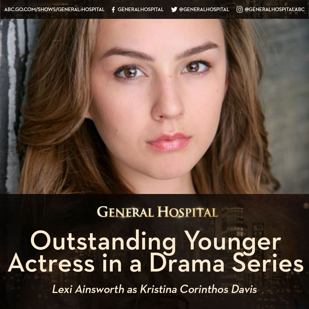 Congrats @_lexiainsworth!! #DaytimeEmmys #OutstandingYoungerActress #N...