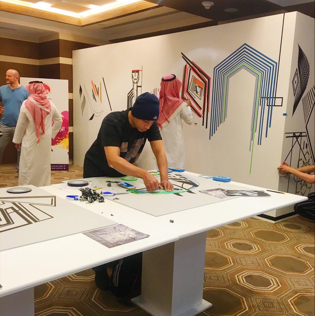 4 فنانين عالميين ذوي خبرة عالية، يشاركون 80 فناناً سعودياً، في أعمال ف...
