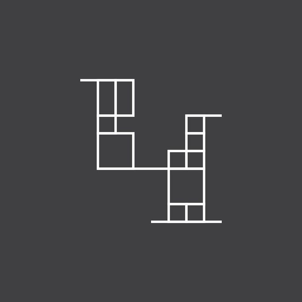 #Mondrian #inspired #number #4 #outline #version #36daysoftype #36days...