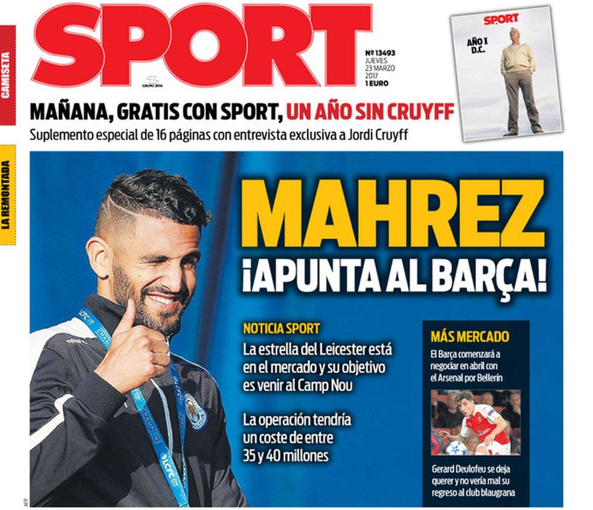 Mais uma estrela? Jornal coloca Mahrez, do Leicester, na mira do Barcelona https://t.co/fIh7NKOp7Y