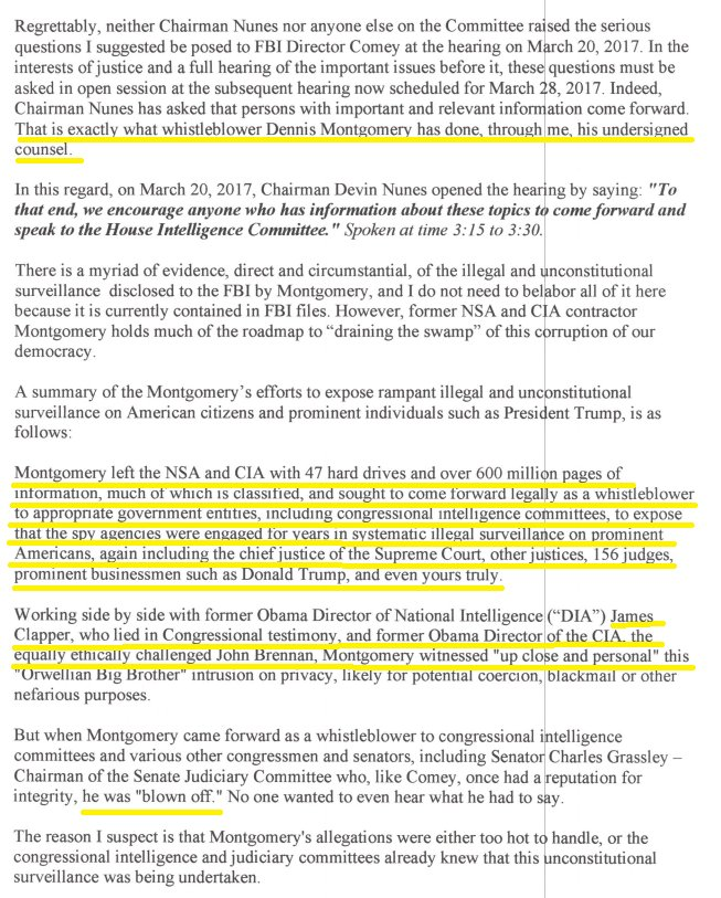 Image result for Freedom Watch letter to Nunes