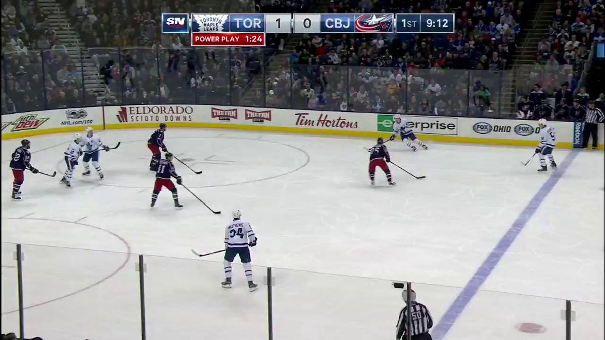 It's supposed to be score then celly, but Auston Matthews did things a...