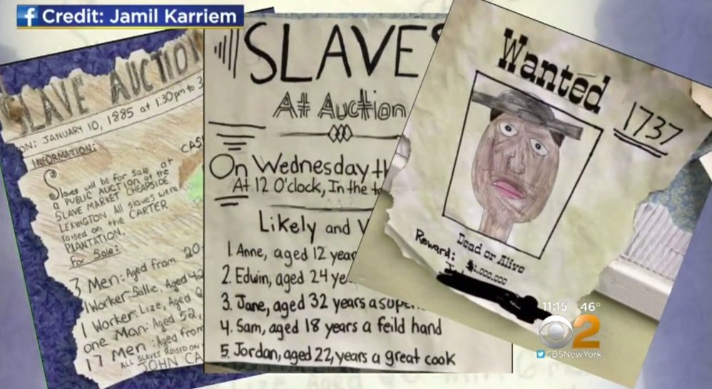 New Jersey elementary school held a mock slave auction during class: h...
