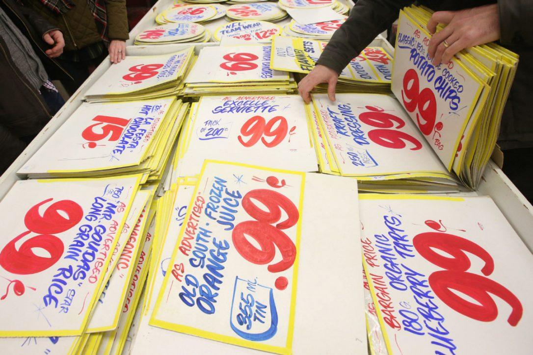 Honest Ed's signs no longer so cheap cheap cheap, as resale value goes...