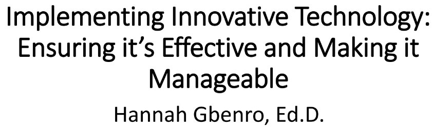 Learning ideas for implementing innovative tech so that's effective and manageable! #NCCE2017 #csd49 https://t.co/ZusqPD6741
